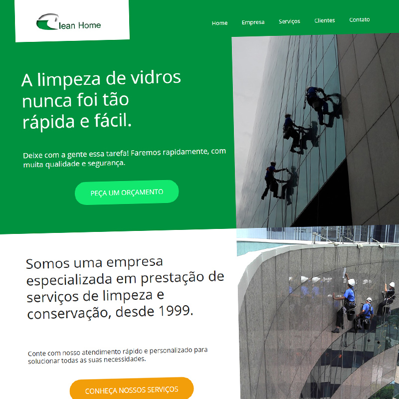 Site institucional: Clean Home